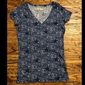 Blue Patterned Tee Shirt